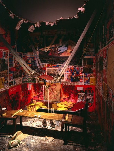 Ilya Kabakov The Man Who Flew Into Space From His Apartment 1985 Centre Georges Pompidou, Paris. Musée national d'art moderne/Centre de Création industrielle. Purchase, 1990 © Ilya & Emilia Kabakov