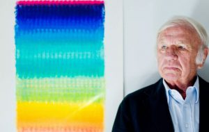 Heinz Mack hält der Struktur die Treue. Am 16. September bringt er das Werkverzeichnis seiner Zero-Malerei heraus und eröffnet eine Ausstellung in der Düsseldorfer Akademie-Galerie. © Westdeutsche Zeitung