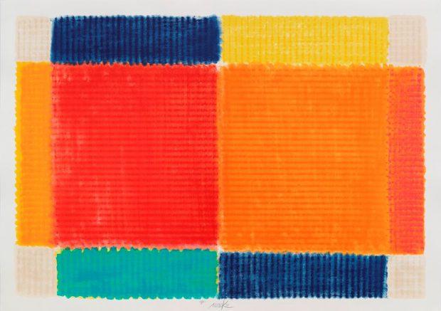Heinz Mack Temperatur der Farben - bisher größte Grafik von Heinz Mack