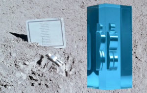 """Paul van Hoeydonck's """"Man in Space"""" edition recreates the Belgian artist's concept for a statuette that was left on the moon."""