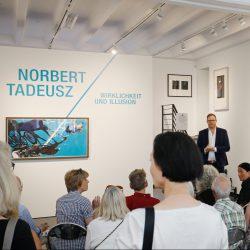 """Ausstellungseröffnung """"Norbert Tadeusz. Wirklichkeit und Illusion"""", Galerie Breckner, Düsseldorf, 31. August 2019"""