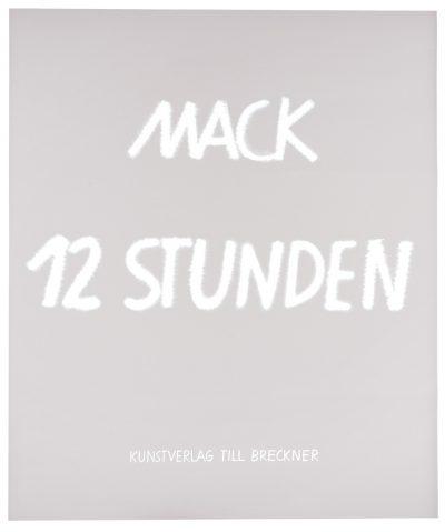 Heinz Mack, Grafikmappe 12 Stunden, Titelblatt, 2016