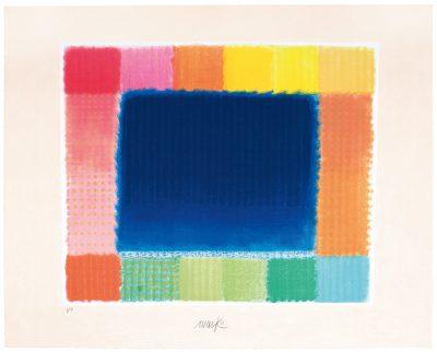 Heinz Mack, Blue Field, 2016