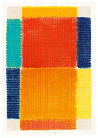 Heinz Mack, Die Temperatur der Farben (Hochformat), 2017