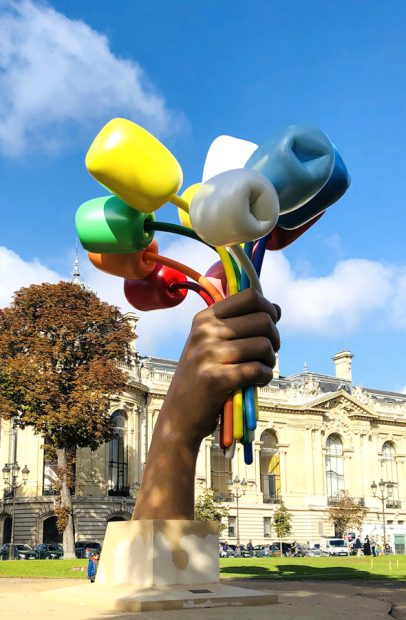Jeff Koons Paris Kunstwerk Bouquet of Tulips