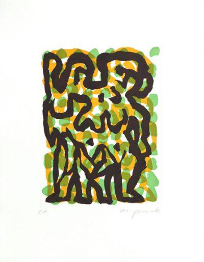 A.R. Penck, Sternzeichen (Zwilling), 1995