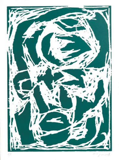 A.R. Penck, Kopf (grün), 1994