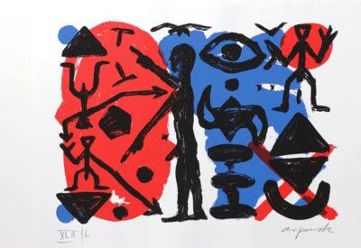 A. R. Penck Grafik Siebdruck Ohne Titel 1993