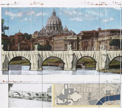 Christo, Ponte Sant'Angelo, Wrapped, Project for Rome, 2011