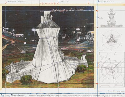 Christo, Wrapped Fountain, Project for La Fontana de Jujol, 2009