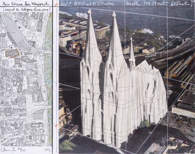 Christo, Mein Kölner Dom, Wrapped, Project for Cologne, 1992