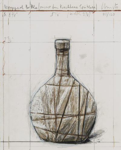 Christo, Wrapped Bottle, Project for Kirchberg Spätlese, 2007