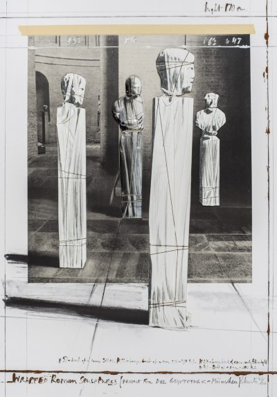 Christo, Wrapped Roman Sculptures, Project for Die Glyptothek, München, 1991