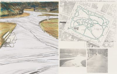 Christo, Wrapped Walk Ways, Project for St. Stephen's Green Park, Dublin, 1983