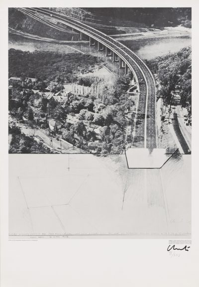 Christo, Closed Highway, Project for 5.000 Miles, 6 Lanes East–West Highway, 1972