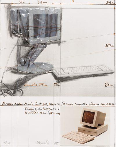 Christo, Wrapped Ericsson Display Monitor, 1985