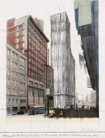 Christo, Wrapped Building, Project for #1 Times Square, 2003