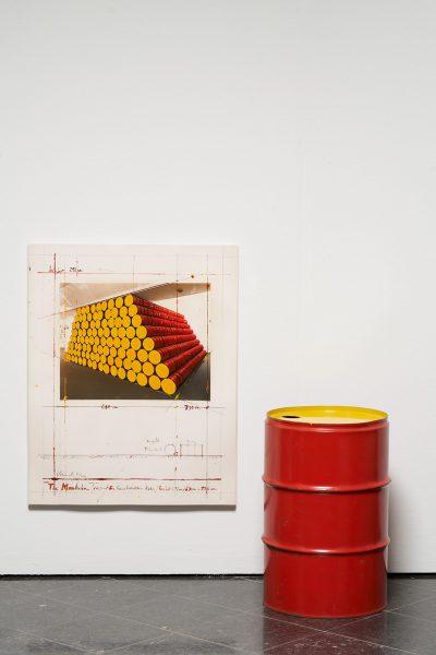Christo, The Mastaba, Project for Kunstverein Köln, 1986