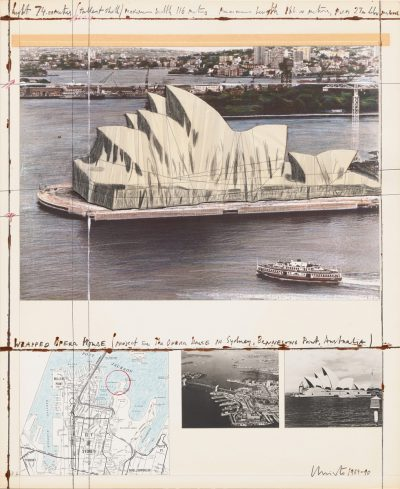 Christo, Wrapped Opera House, Project for Sydney, 1991