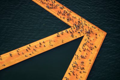 Christo & Jeanne-Claude, Wolfgang Volz, Lago d'Iseo – WV 08, 2016