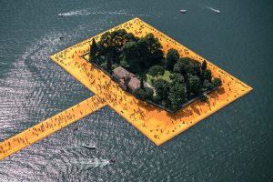 Christo & Jeanne-Claude, Wolfgang Volz, Lago d'Iseo – WV 27, 2016