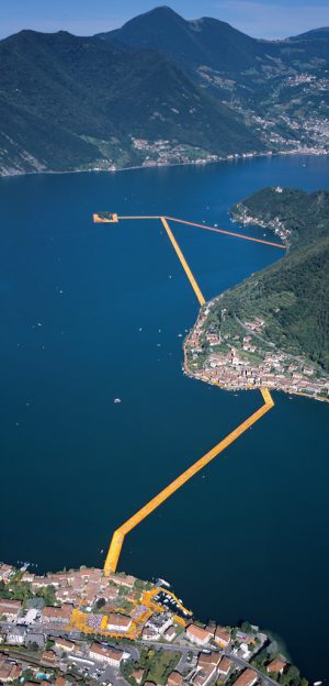 Christo & Jeanne-Claude, Wolfgang Volz, Lago d'Iseo – WV 38, 2016