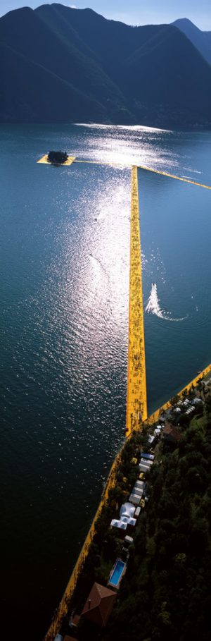 Christo & Jeanne-Claude, Wolfgang Volz, Lago d'Iseo – WV 49, 2016