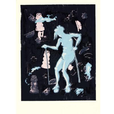 Jörg Immendorff, Dialog, 2001. Siebdruck auf Bütten, 106 x 78 cm, 100 Exemplare zzgl. e.a.
