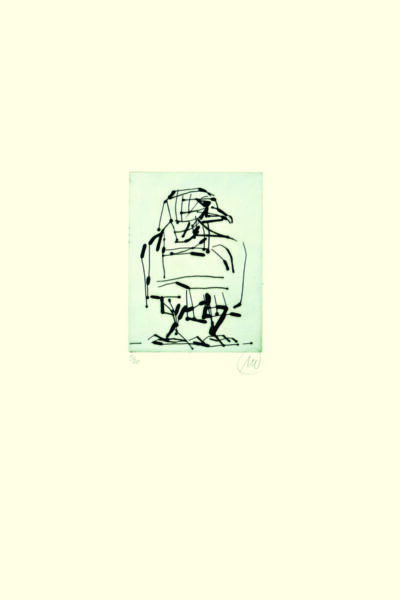 Markus Lüpertz, Adler (grau), 2009. Radierung auf Bütten, 48,3 x 38 cm, 20 arab. num., sign. Exemplare zzgl. e.a.