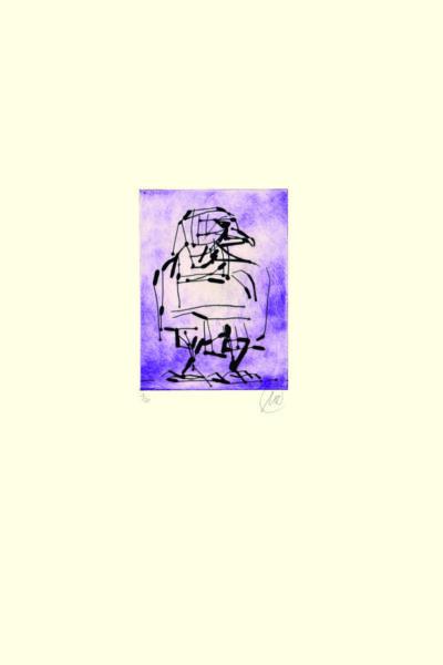 Markus Lüpertz, Adler (violett), 2009. Radierung auf Bütten, 48,3 x 38 cm, 20 arab. num., sign. Exemplare zzgl. e.a.