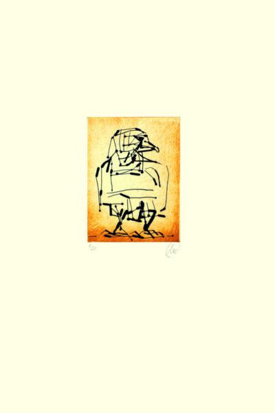 Markus Lüpertz, Adler (ocker), 2009. Radierung auf Bütten, 48,3 x 38 cm, 20 arab. num., sign. Exemplare zzgl. e.a.