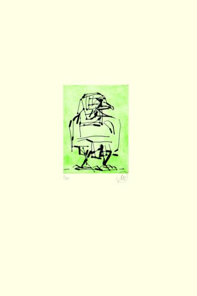 Markus Lüpertz, Adler (grün), 2009. Radierung auf Bütten, 48,3 x 38 cm, 20 arab. num., sign. Exemplare zzgl. e.a.