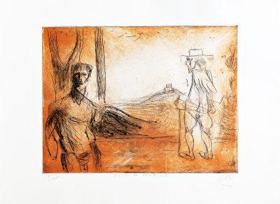 Markus Lüpertz, Vision de Poussin, 2012, 100 arab. num. Exemplare