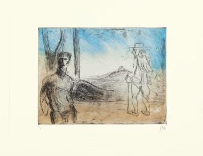 Markus Lüpertz, Vision de Poussin, 2012. Radierung auf Bütten, 69 x 94 cm, 10 röm. num., sign. Exemplare