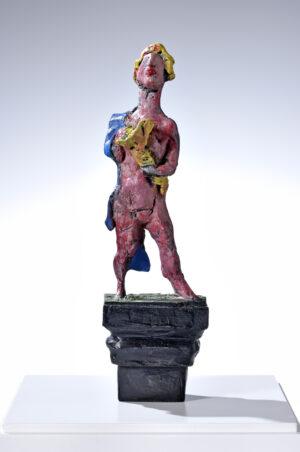 Markus Lüpertz, Fortuna, Skulptur, 2013. Bronze, handbemalt, 37 x 11 x 7,5 cm, 45 Exemplare,erschienen bei Kusntverlag Till Breckner