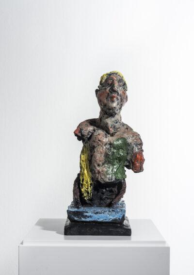 Markus Lüpertz, Odysseus, Skulptur, 2013. Bronze, handbemalt, 35 x 18 x 20 cm; 45 arab. num. Exemplare zzgl. e.a.