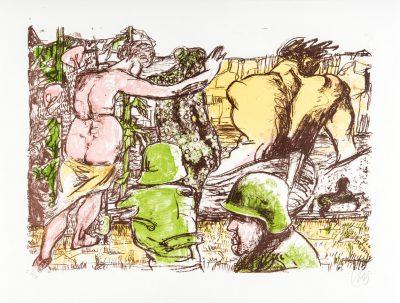 Markus Lüpertz, Angriff der Avangarde (Arkadien Zyklus), 2014