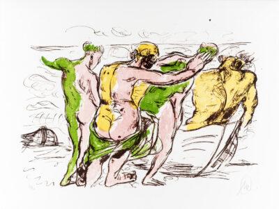 Markus Lüpertz, Grünes Licht (Arkadien Zyklus), 2014. Farblithografie auf Bütten, 61 x 81 cm, 20 Exemplare