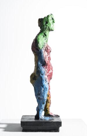 Markus Lüpertz, Susanna, Skulptur, 2015. Bronze, handbemalt, 48 x 14,5 x 16,5 cm, 45 arabisch nummerierte Exemplare zzgl. e.a.