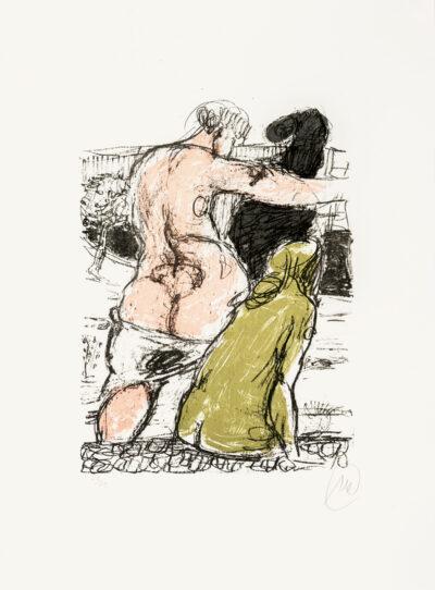 Markus Lüpertz, Olivene Frau (Arkadien Zyklus), 2014. Farblithografie auf Bütten, 75,6 x 56 cm, 20 arab. num. Exemplare zzgl. e.a.
