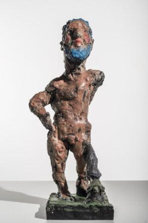 Markus Lüpertz, Herkules, Skulptur, 2016. Bronze, handbemalt, 45 x 19,5 x 17,7 cm, 45 Exemplare