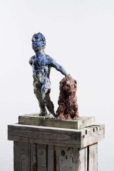 Markus Lüpertz, Sternzeichen – Löwe, Skulptur, 2018. Bronze, handbemalt, 50 x 37 x 20 cm, 30 arab. zzgl. 6 röm. Exemplare   Entdecken Sie die Tiekreiszeichen von Markus Lüpertz