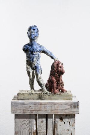 Markus Lüpertz, Sternzeichen – Löwe, Skulptur, 2018. Bronze, handbemalt, 50 x 37 x 20 cm, 30 arab. zzgl. 6 röm. Exemplare | Entdecken Sie die Tiekreiszeichen von Markus Lüpertz