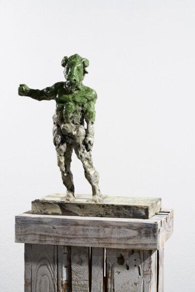 Markus Lüpertz, Sternzeichen – Widder, Skulptur, 2018. Bronze, handbemalt, 50 x 37 x 20 cm, 30 arab. zzgl. 6 röm. Exemplare | Entdecken Sie die Tiekreiszeichen von Markus Lüpertz