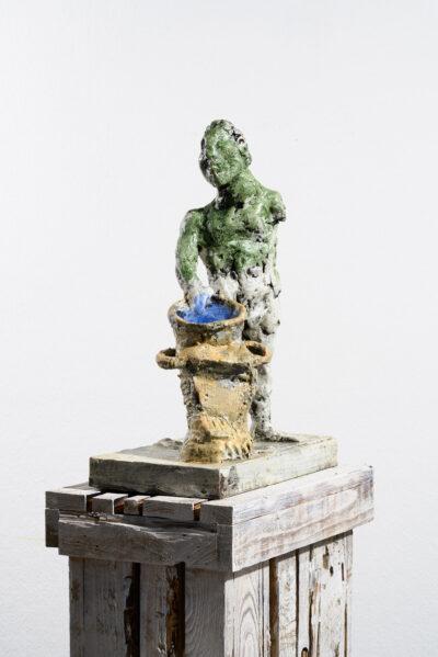 Markus Lüpertz, Sternzeichen – Wassermann, Skulptur, 2018. Bronze, handbemalt, 46 x 37 x 20 cm, 30 arab. zzgl. 6 röm. Exemplare   Entdecken Sie die Tiekreiszeichen von Markus Lüpertz