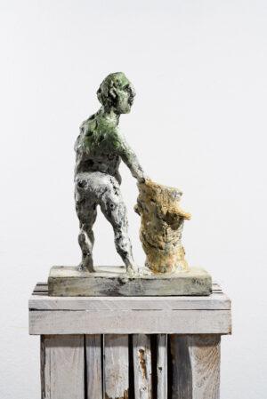 Markus Lüpertz, Sternzeichen – Wassermann, Skulptur, 2018. Bronze, handbemalt, 46 x 37 x 20 cm, 30 arab. zzgl. 6 röm. Exemplare | Entdecken Sie die Tiekreiszeichen von Markus Lüpertz
