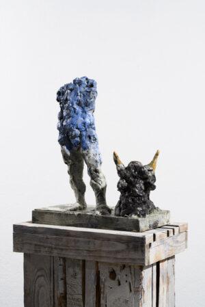 Markus Lüpertz, Sternzeichen – Stier, Skulptur, 2018. Bronze, handbemalt, 46 x 37 x 20 cm, 30 arab. zzgl. 6 röm. Exemplare | Entdecken Sie die Tiekreiszeichen von Markus Lüpertz