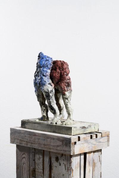 Markus Lüpertz, Sternzeichen – Zwilling, Skulptur, 2018. Bronze, handbemalt, 42 x 37 x 20 cm, 30 arab. zzgl. 6 röm. Exemplare | Entdecken Sie die Tiekreiszeichen von Markus Lüpertz
