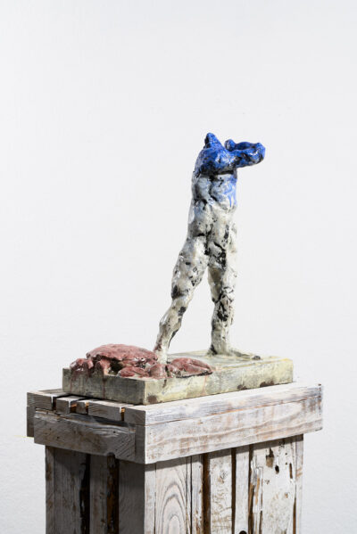 Markus Lüpertz, Sternzeichen – Krebs, Skulptur, 2018. Bronze, handbemalt, 45 x 37 x 20 cm, 30 arab. zzgl. 6 röm. Exemplare   Entdecken Sie die Tiekreiszeichen von Markus Lüpertz
