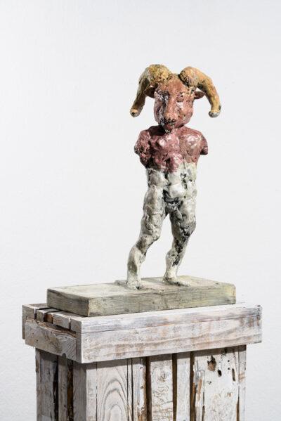 Markus Lüpertz, Sternzeichen – Steinbock, Skulptur, 2018. Bronze, handbemalt, 53 x 37 x 20 cm, 30 arab. zzgl. 6 röm. Exemplare   Entdecken Sie die Tiekreiszeichen von Markus Lüpertz